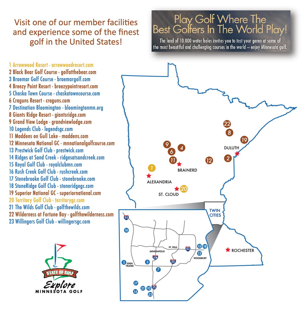 Explore Minnesota Golf Members