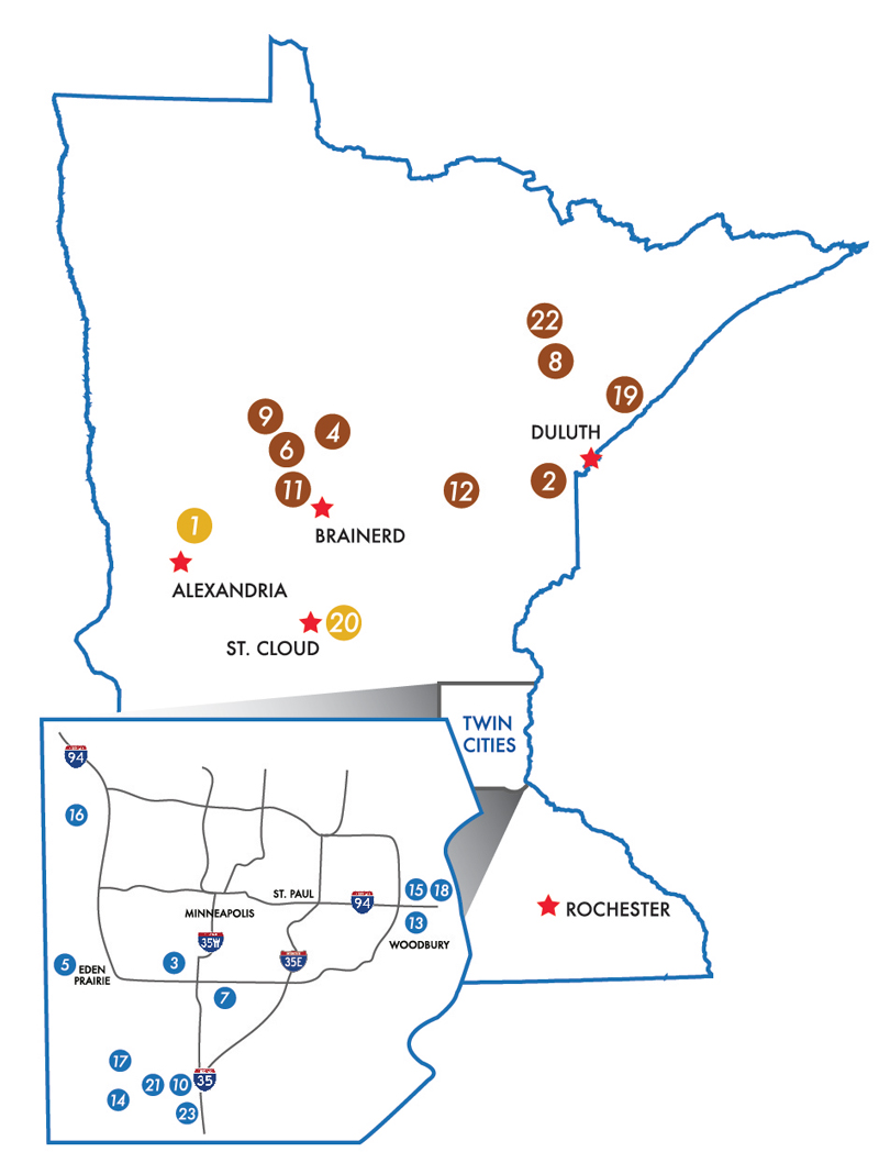 Explore Minnesota Golf Map 2020
