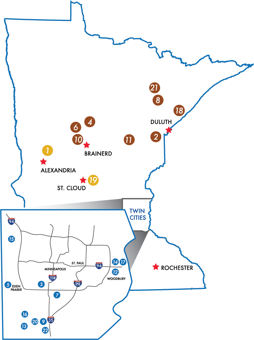Explore Minnesota Golf Alliance Courses Map 2020